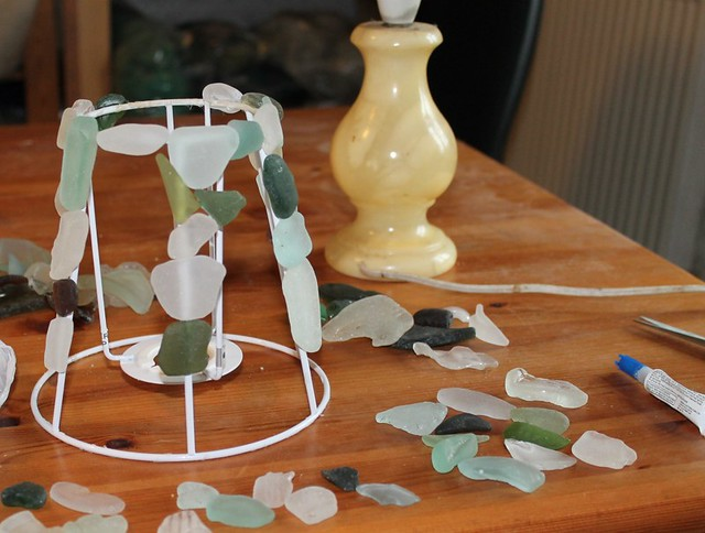 seaglass lamp 2