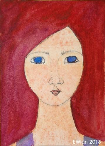 54-365 ATC 2013 redhead freckled girl
