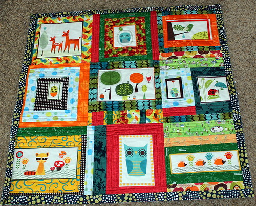 Critter Community Baby Quilt