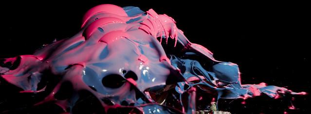 Pink/Blue Paint