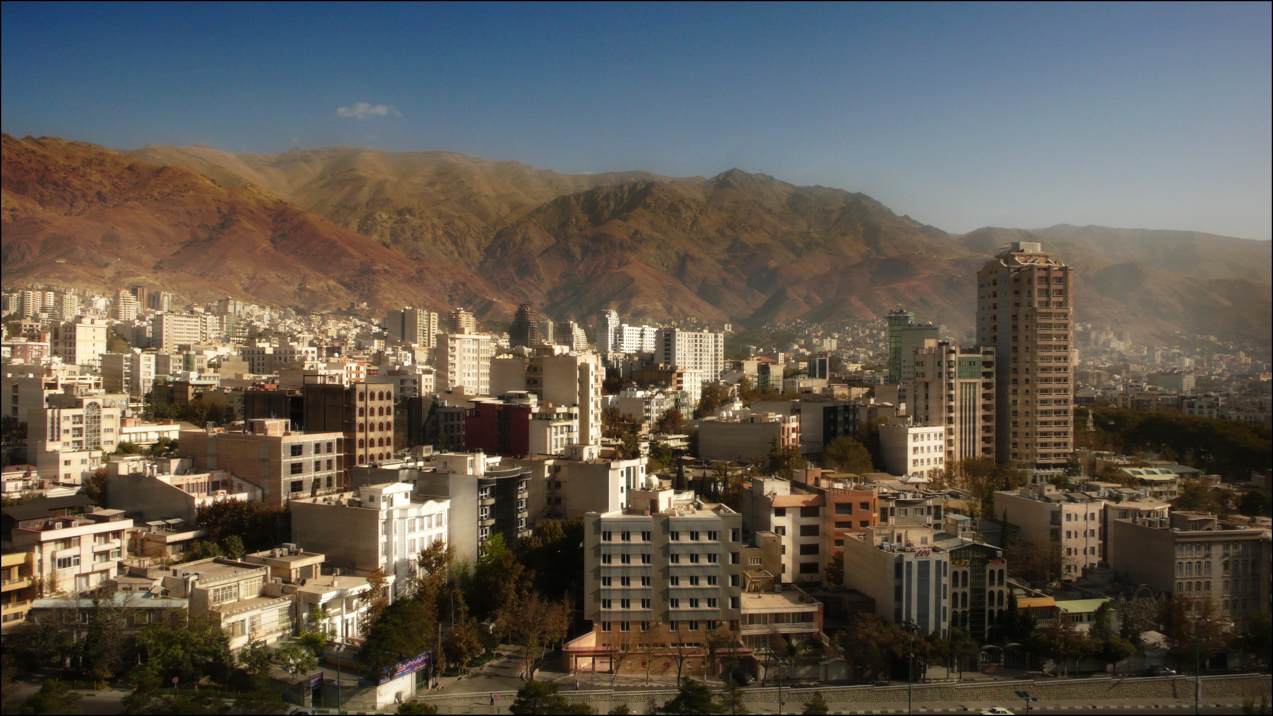 tehran view Elevation of Tehran Tehran Iran