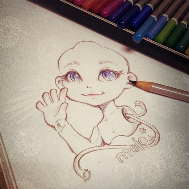 Drawing melo* :3 ~ #drawing #artwork #cute #doll #bjd ...