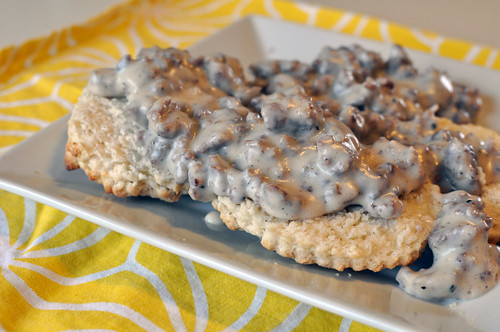 Biscuits with Maple Sausage Gravy 4