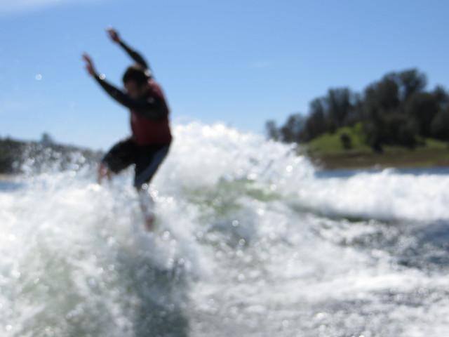 Mid March Wakesurfing 415