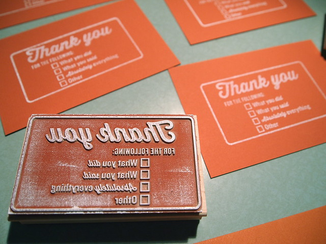 Thank you rubber stamp designed by Kate Koeppel