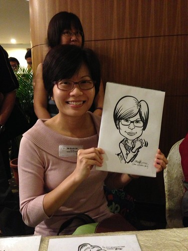 caricature live sketching for South West ComCare Local Network Anniversary Dinner cum ComCare Awards 2013 - k