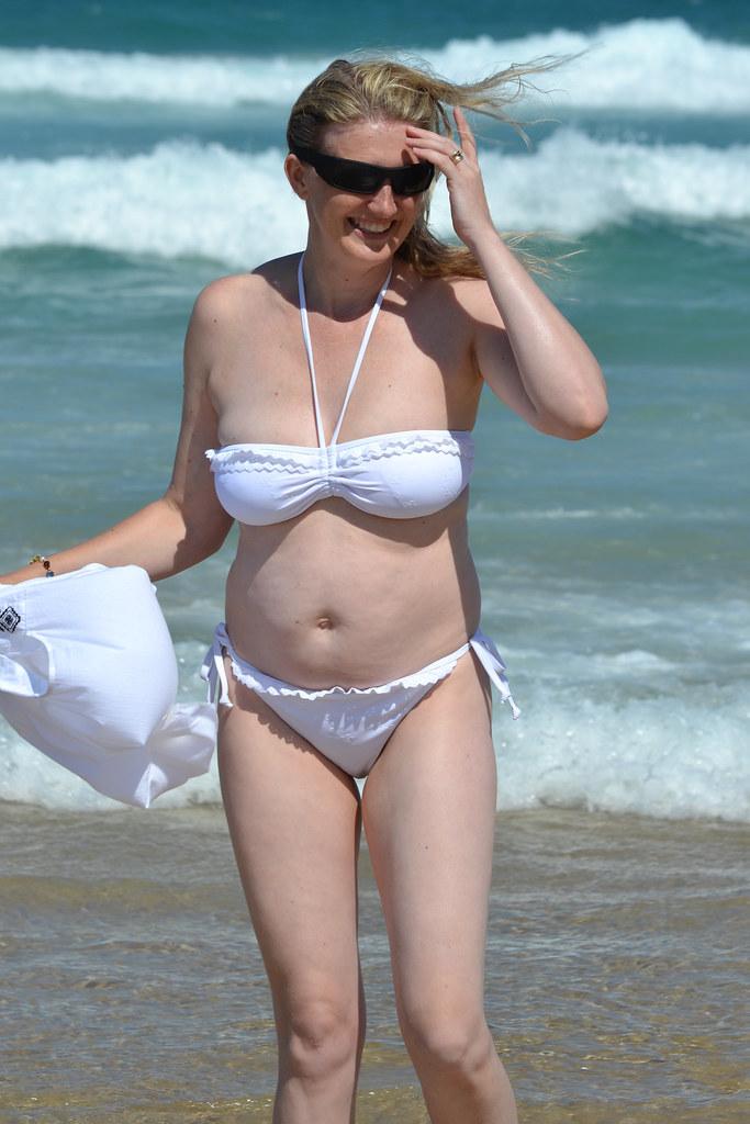 Mature milf bikini beach