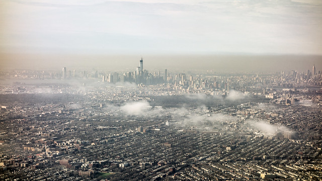 Thermal Inversion Freedom Tower, March 10, 2013 by ken mccown on Flickr