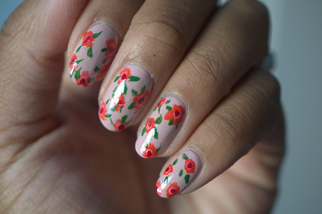 Floral Nail Art Designs with Target Beauty