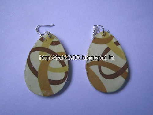 Handmade Jewelry - Card Paper Earrings (8) by fah2305