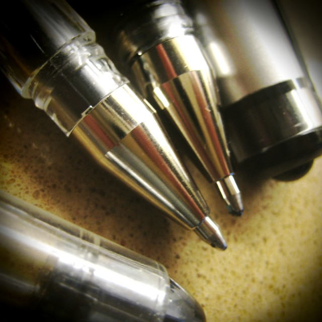 Close up of the Pens