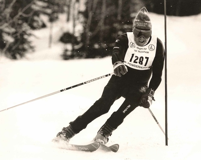 Jack Benedict skiing