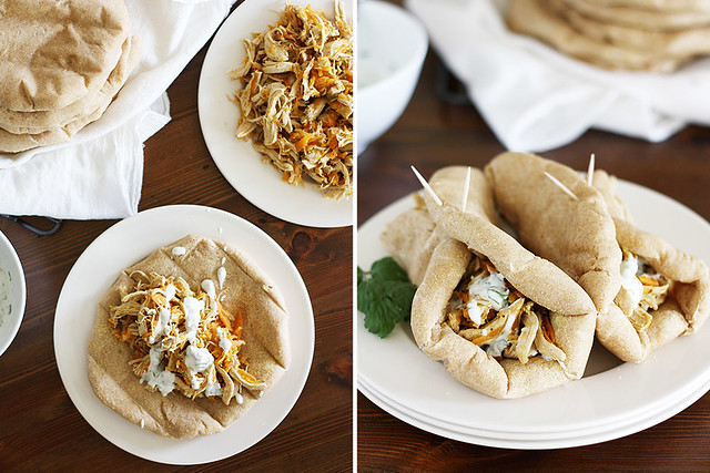 indian chicken pita sandwiches