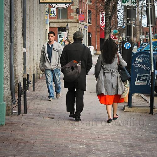 Her Orange Skirt
