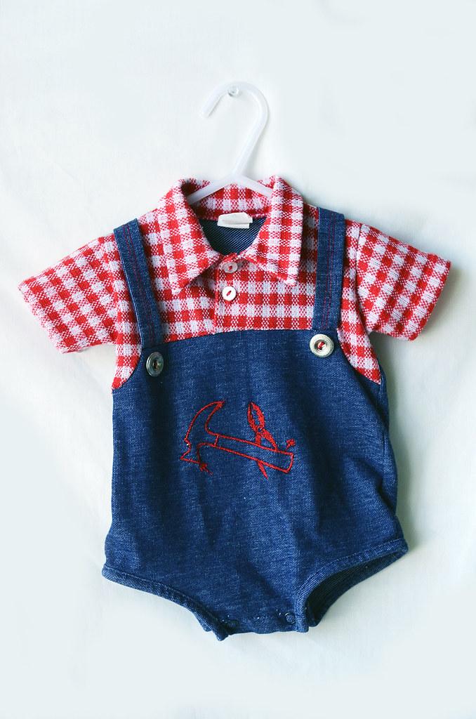Vintage Infant Boy Outfit