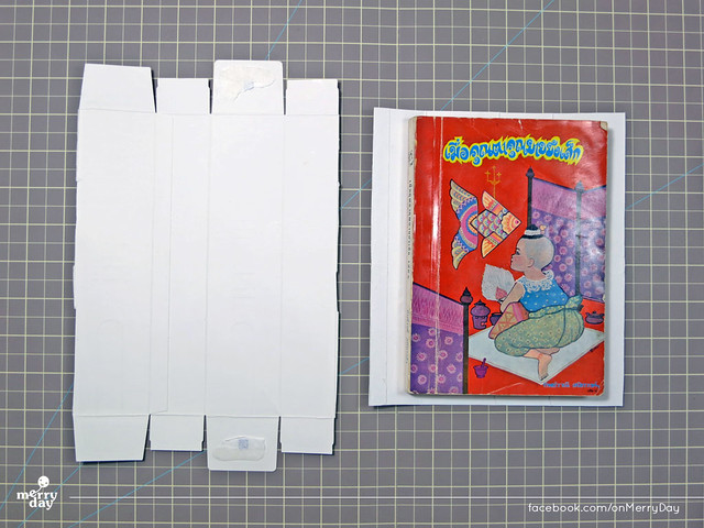diy making book jacket from toothpaste boxes02