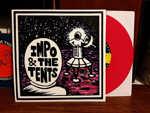 "Impo & The Tents - Going To The Moon 7"" - Pink Vinyl (/100) by Tim PopKid"