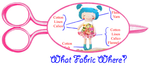 What fabric where when making a doll
