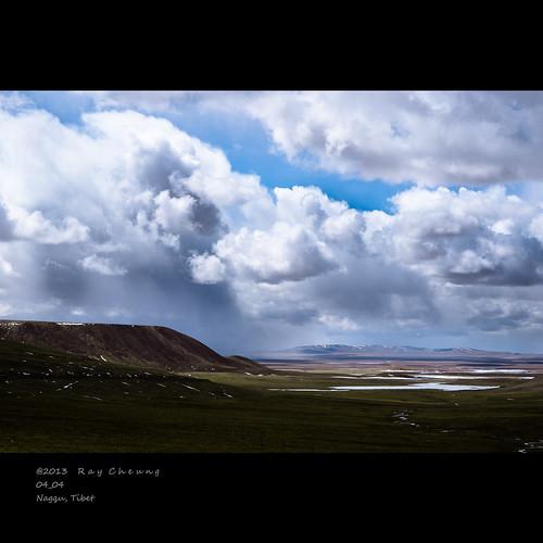 china travel cloud weather landscape tibet grassland lhasa nagqu