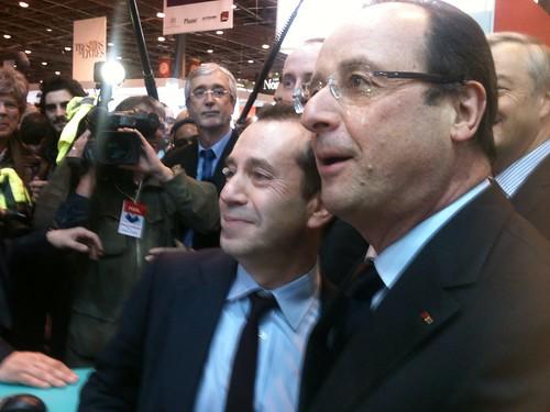 François Hollande et Bruno Racine au SdL 2013