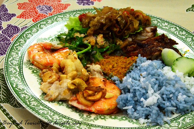 My Nyonya dinner plate at  Pearly Kee's home