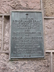 Photo of James Grant and John Geddes bronze plaque
