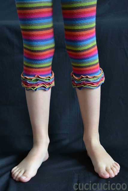 turning outgrown tights into fun leggings