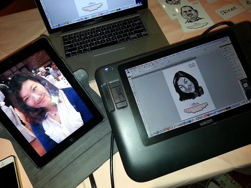 digital caricature for Cisco