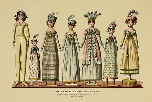 020-Muñecas vestidas epoca Imperio-Histoire des jouets….1902- Henry René d' Allemagne