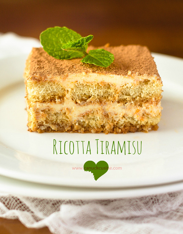 Light Ricotta Tiramisu - Heavenly & Lower Fat !