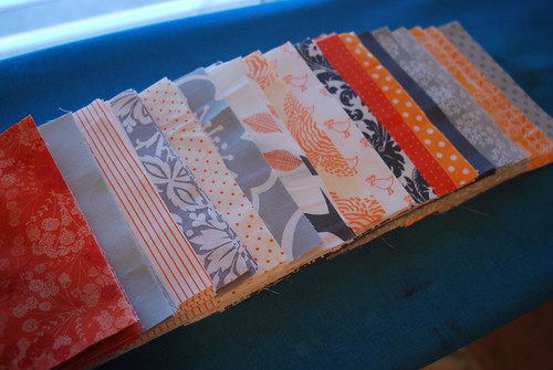 Orange and Grey Quilt-t0-be