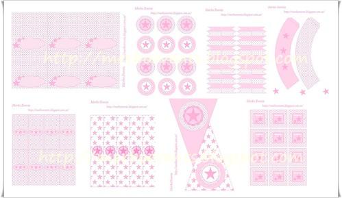 kit bautizo rosa