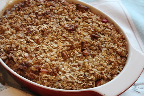 Baked Rhubarb Oatmeal | coppertopkitchen.blogspot.com