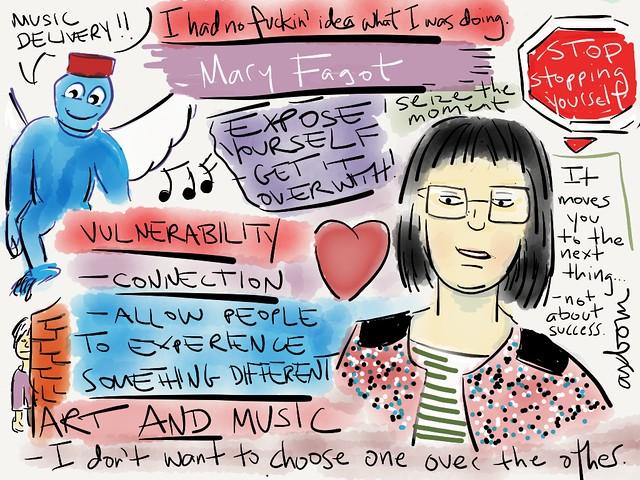Sketchnotes from @fagogo33 Mary Fagot's talk at #aggro13