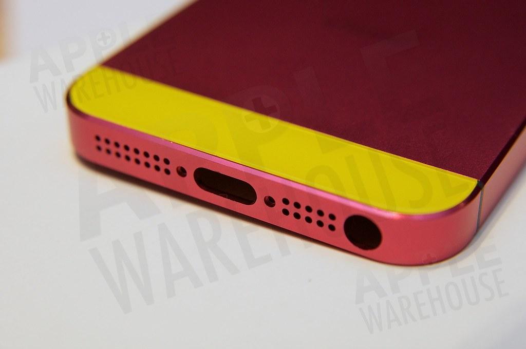 電鍍紅 + 黃色玻璃