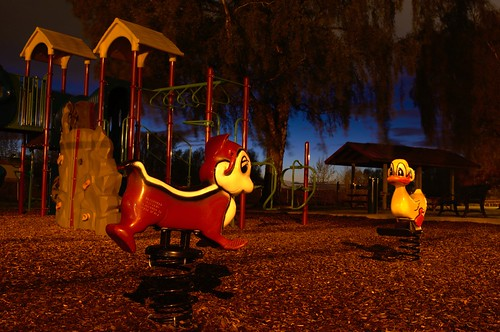 Playground at Night