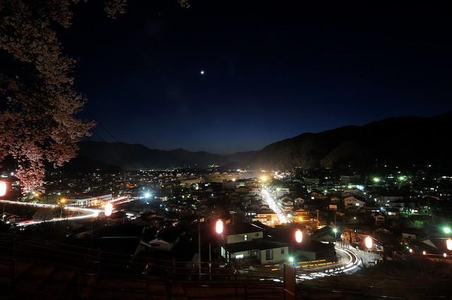 城址公園からの夜景