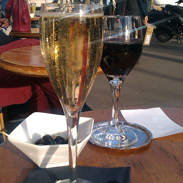 Evening drinks with Cheri #love  #champagne #wine  #Paris