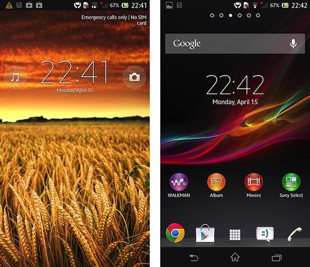 Tampilan antarmuka Android di Xperia Z yang telah dimodifikasi Sony (1)