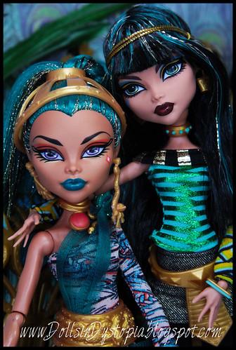 Cleo and Nefera Close Up by DollsinDystopia