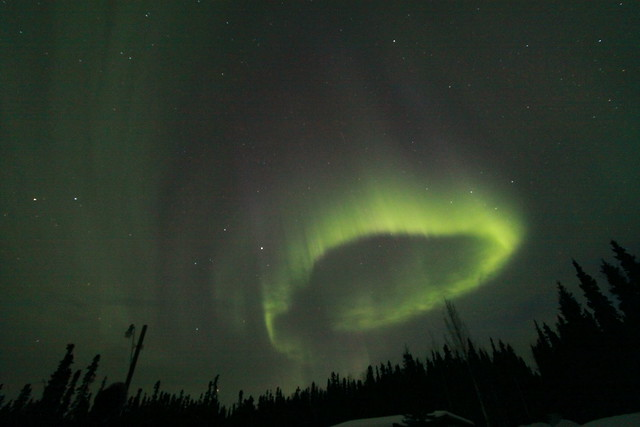 Aurora Borealis over Ester, Alaska by sifuswoman on Flickr, April 14, 2013