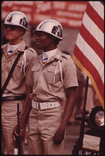 Part Of The Color Guard For The Bud Billiken Day Parade Waiting To Step Out Along The Route On Dr. Martin L. King Jr. Drive, 08/1973