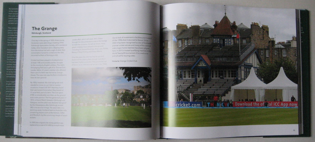 My Grange Cricket Ground Photo Big Coffee Table Book With Flickr