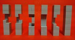 Burr 3D Cross Puzzle Six Pieces