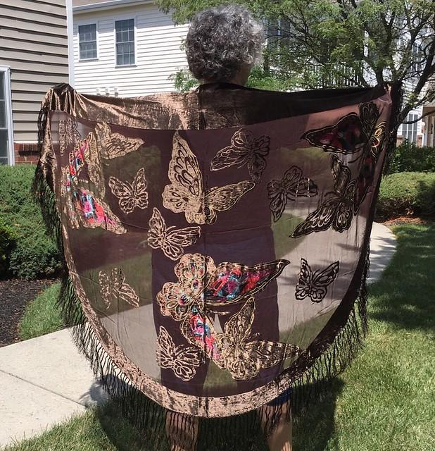 Butterfly shawl Hazelanne Lewis