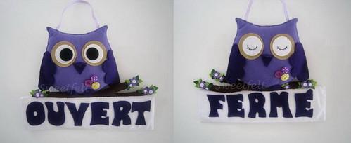 ♥♥♥ Para uma pastelaria que abrirá ao público dentro de  dias... de um lado Aberto e do outro Fechado. by sweetfelt \ ideias em feltro