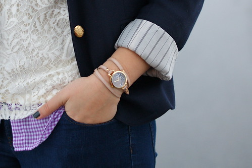 wrap watch with blazer