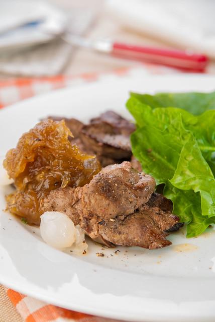 rabbit liver with onion marmalade2