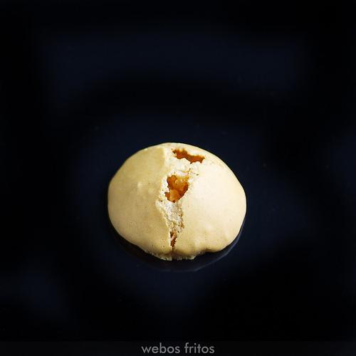 Macaron roto por arriba