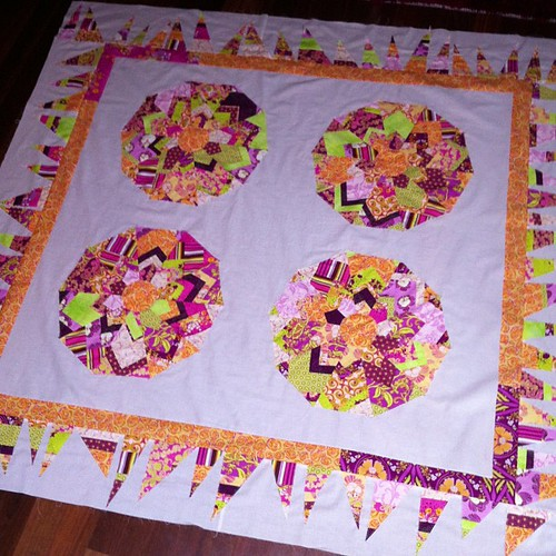 All borders on. Ready for quilting #finishit2013 by Scrappy quilts